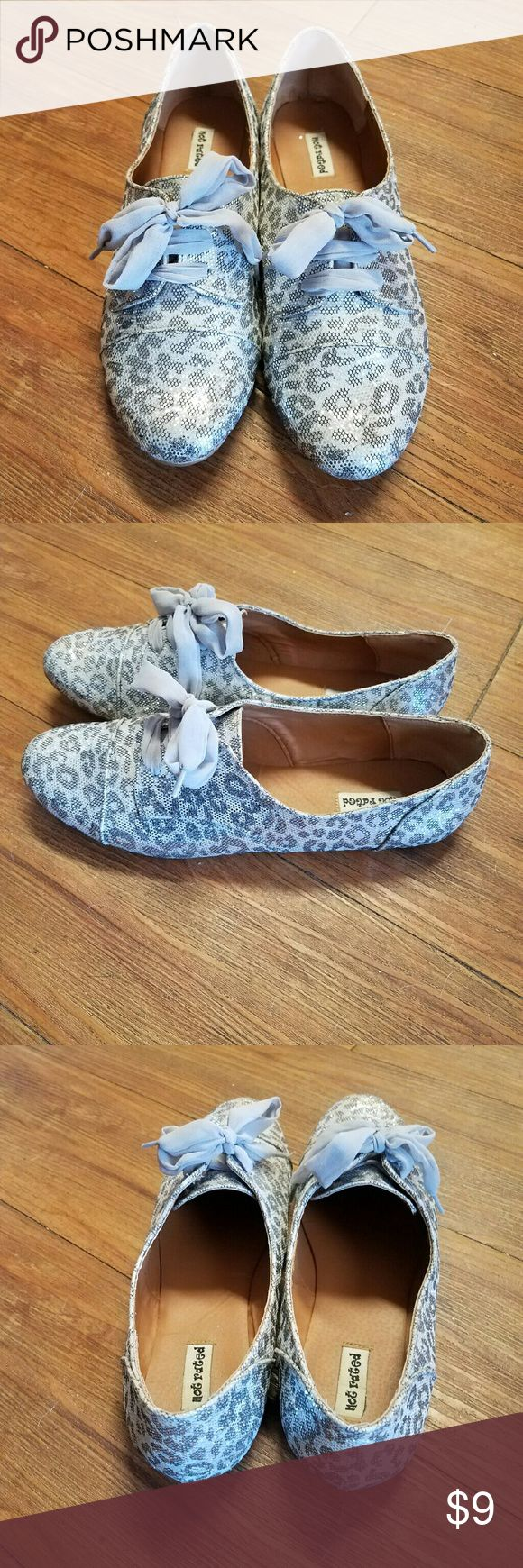 Not Rated shoes Animal print with sheer laces. Very comfortable. Not Rated Shoes Flats & Loafers