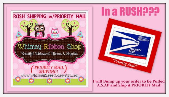 RUSH My Order Charge  Next Day Shipping with by WhimsyRibbonShop