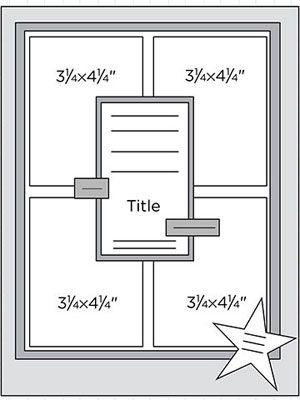 "8-1/2x11"" Scrapbook Page Sketches 31-60: Scrapbook Page Sketch 203"
