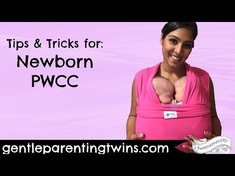 Babywearing Newborn Twins: Pocket Wrap Cross Carry (PWCC) - YouTube