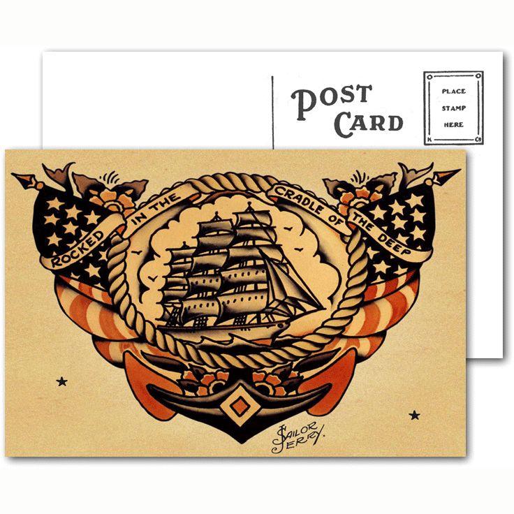 Sailor Jerry Tattoo Postcard