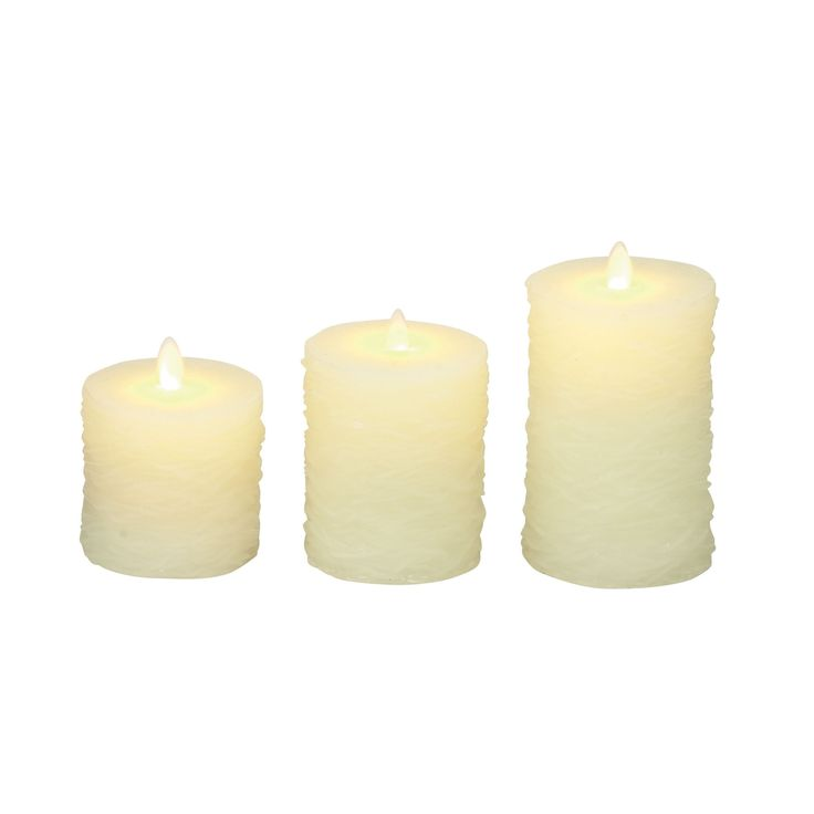 Awesome Flameless Candle with Remote (Set of 3) (Awesome Set of 3 Flameless Candle with Remote), Black (Acacia)