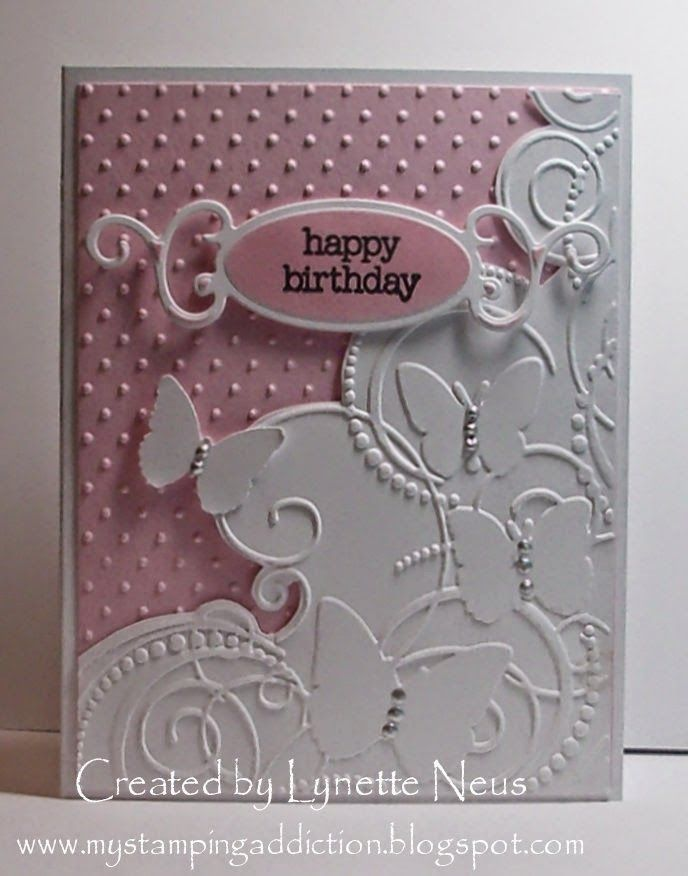 Love this idea, must check my embossing folders to see if I have one I can cut into like this...