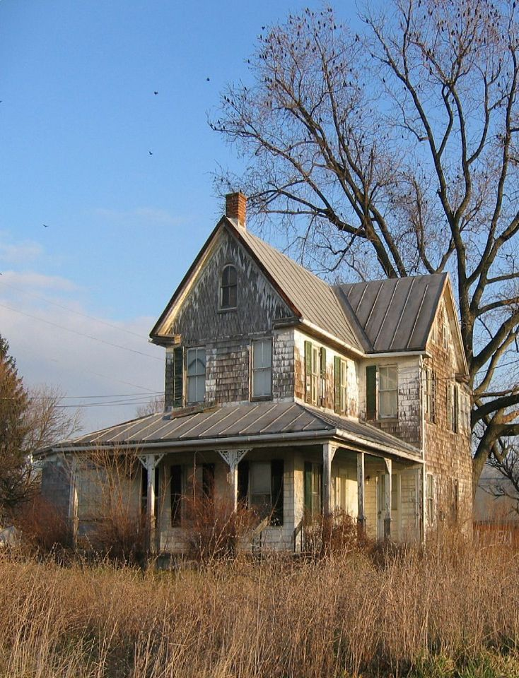 Bet Was Pretty In Her Days...Old Farm House Old, Worn