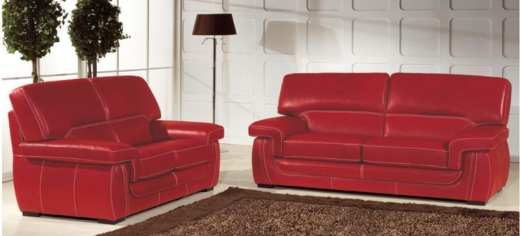 39 best meuble images on pinterest furniture armchairs With canape cuir rouge buffle