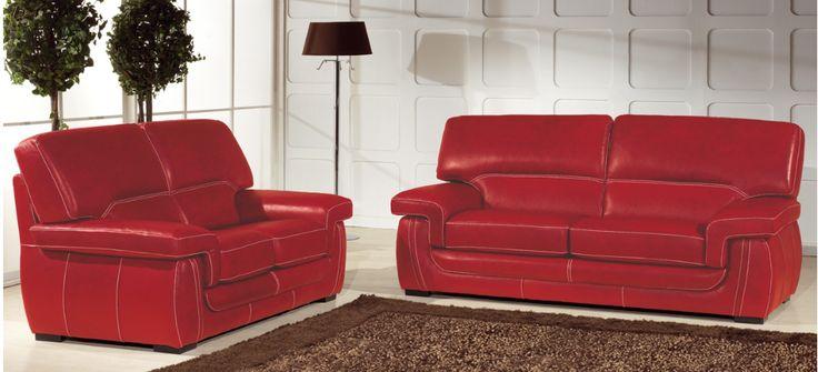 Les 25 Meilleures Id Es Concernant Canap S En Cuir Rouge Sur Pinterest Salon Rouge Decor De