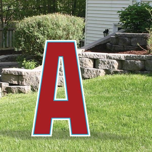 1 Ft 11 In Yard Sign Expression Letter A Yard Signs Lettering How To Make Letters