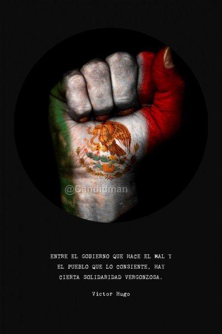 """""""Entre el #Gobierno que hace el mal y el #Pueblo que lo consiente, hay cierta #Solidaridad vergonzosa"""". #VictorHugo #Citas #Frases @candidman"""