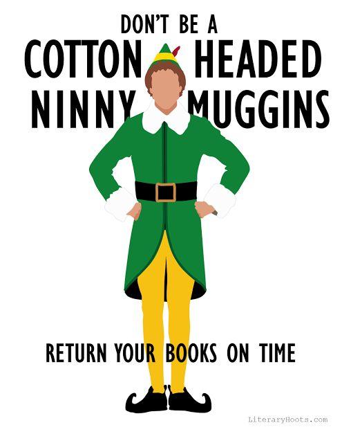 Free printable Book Return Poster!