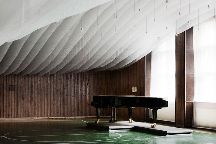 A Gym Is Transformed Into A Concert Hall In The Pannonhalma Archabbey, Hungary | Yatzer Photo by Tamás Bujnovszky
