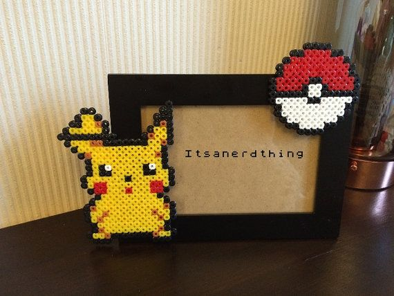 Pikachu and Pokeball Photo or Picture Frame   by Itsanerdthing