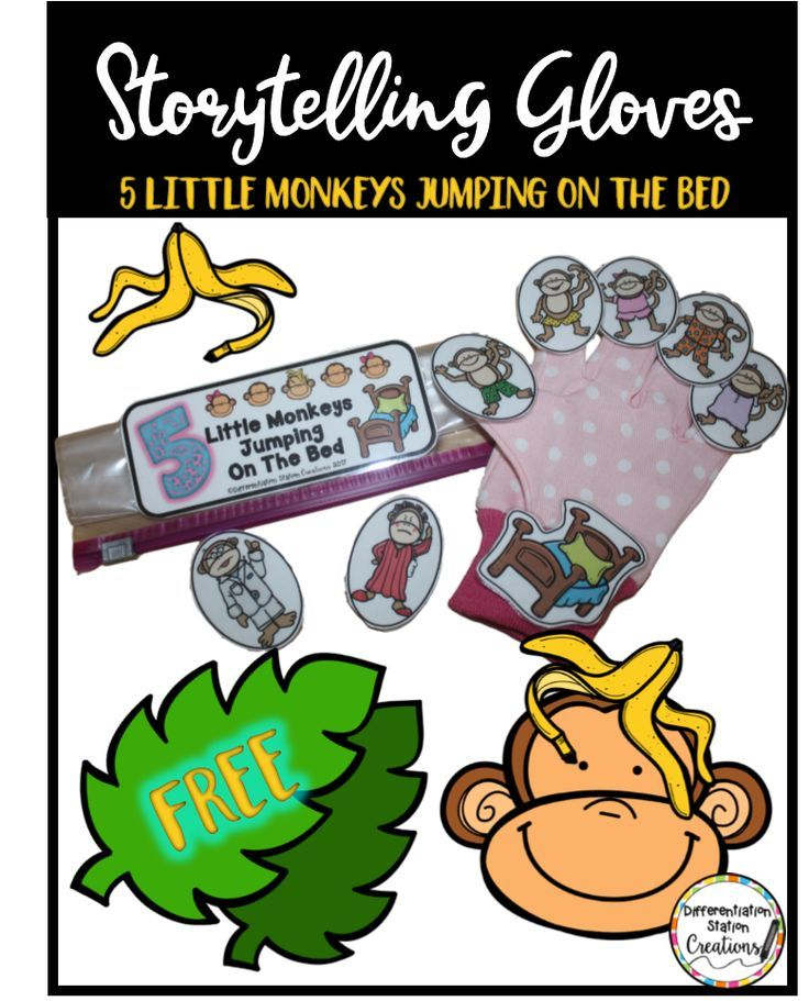 Free storytelling pieces! Create storytelling gloves, magnetic storyboard, or finger puppets with free printables!