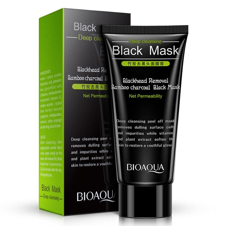 BIOAQUA Bamboo Charcoal Blackhead Mask Facial Mask Remove Blackhead Treatment Cleaning Oil Control Shrink Pores T Zone Skin Care #Affiliate