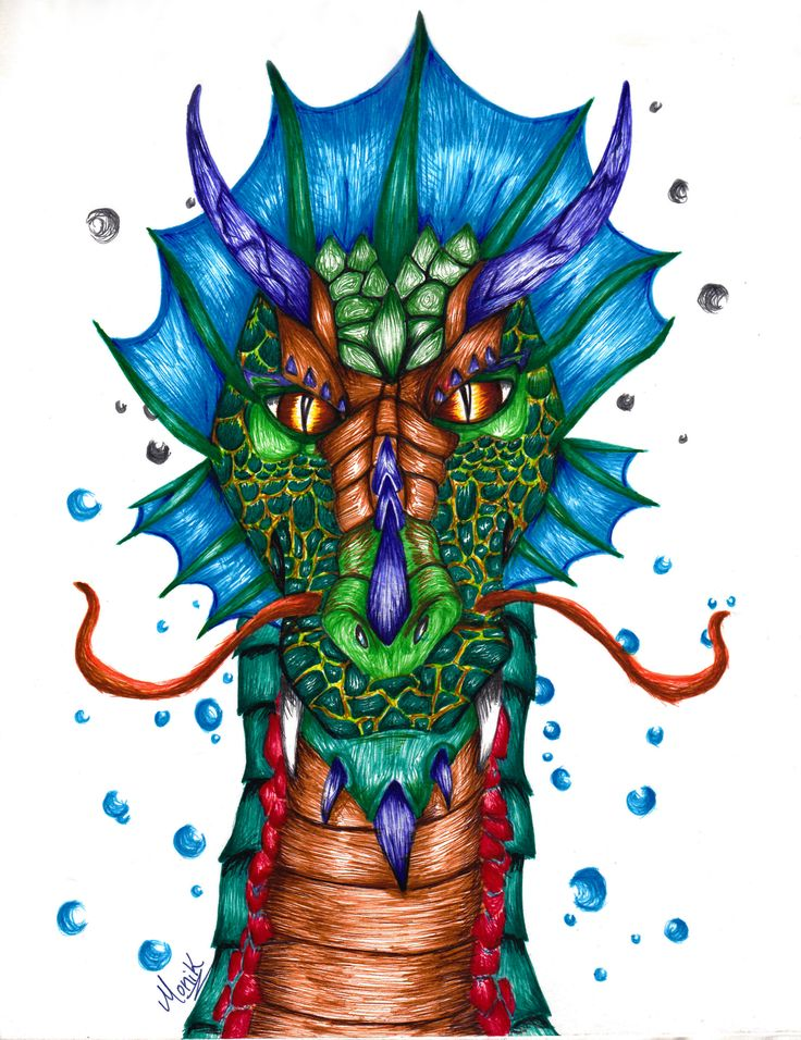 Aqua Dragon. Made only with Stabilo fineliners. #illustration #illustrating #drawing #draw #dragon #dragons #aquatic #colors #fineliners #Stabilo #handmade #hobbie #dragonlove #artwork #art #fantastic #creatures #aqua