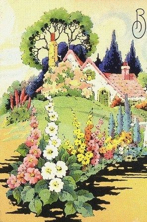 Vintage ephemera...cottage garden...