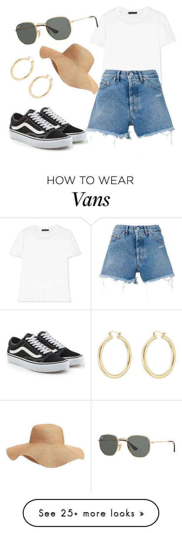 """""""Untitled #149"""" by dastejeda28 on Polyvore featuring Vans, The Row, Off-White, Isabel Marant, Old Navy and Ray-Ban"""