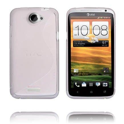 S-Line Läpikuultava (Harmaa) HTC One X Suojakuori