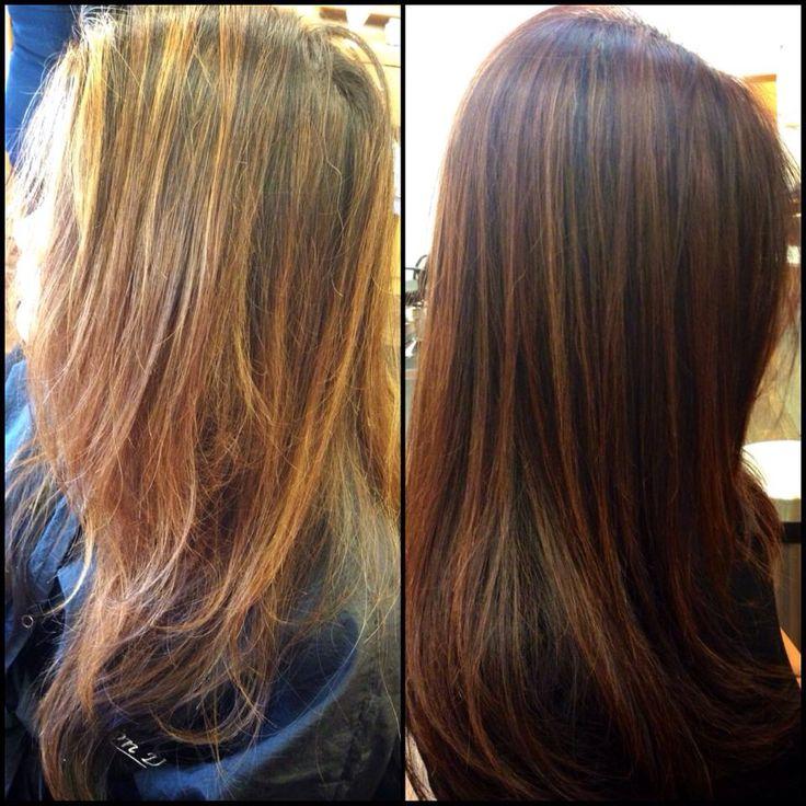 Summer To Fall Highlights Hair Auburn Highlights Tina