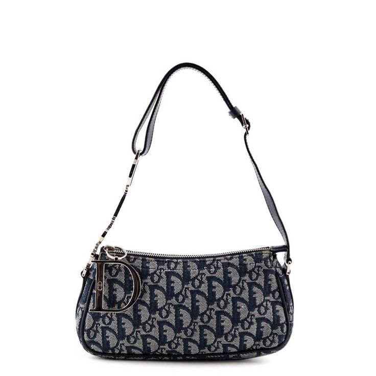 Dior Navy Diorissimo Charms Pochette Love That Bag Preowned Authentic Designer Handbags Bags Shoulder Bag Beautiful Bags
