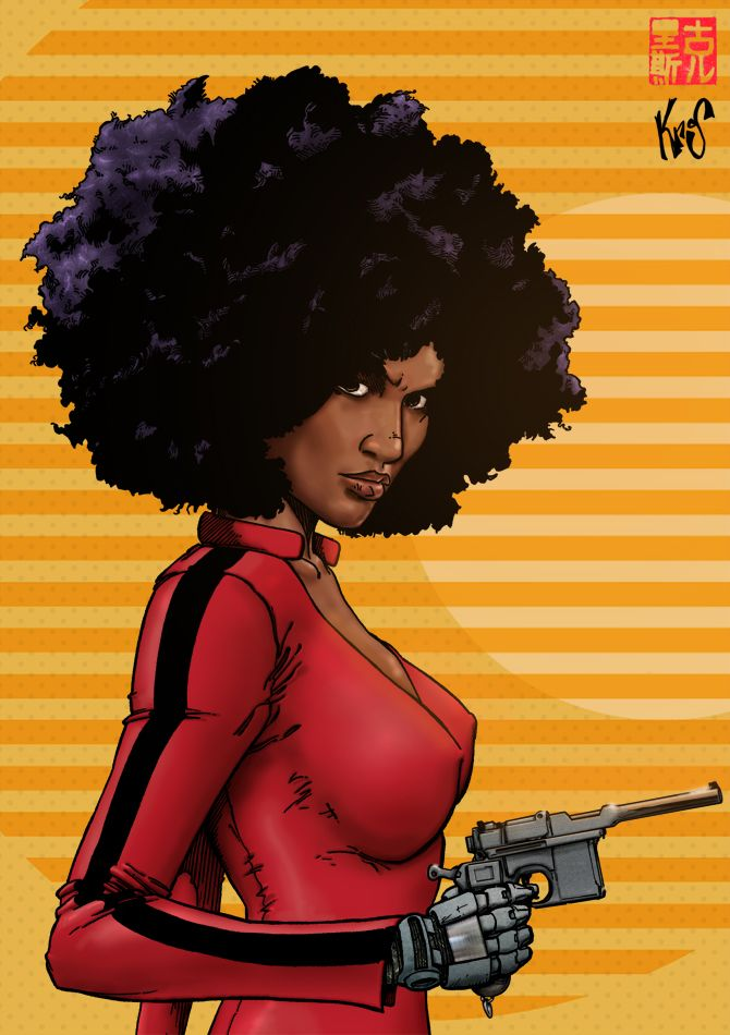 "superheroesincolor: ""Misty Knight Hero For Hire by Fastfood """