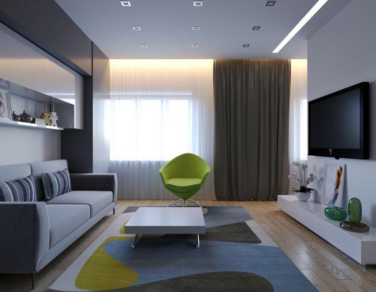 Проект однокомнатной квартиры для молодой девушки. - Дизайн интерьеров   Идеи вашего дома   Lodgers