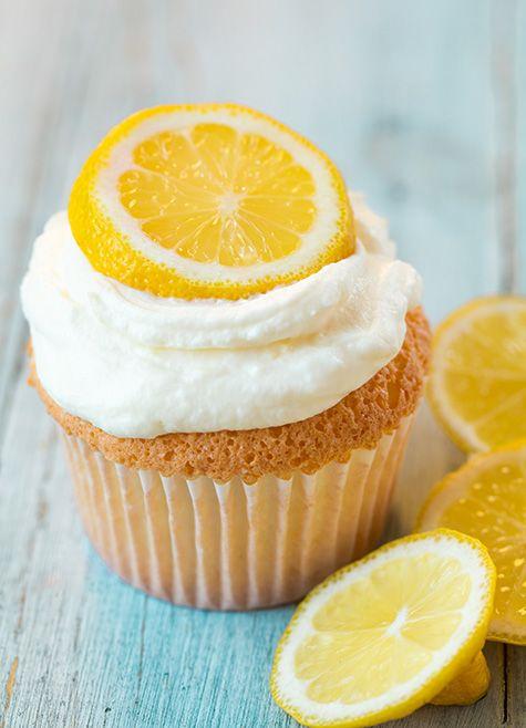 Lemon Angel Food Cupcakes - Cooking Classy