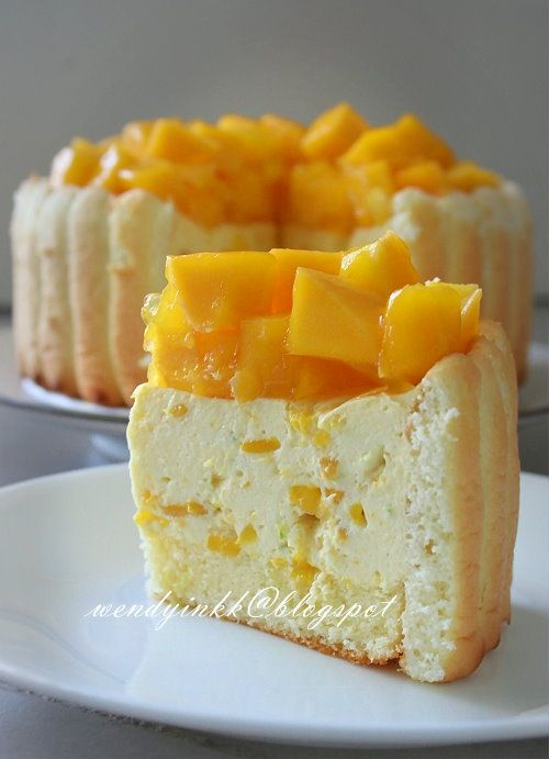 Mango Cheese Charlotte No Bake Cheesecake Recipe Sounds Divine