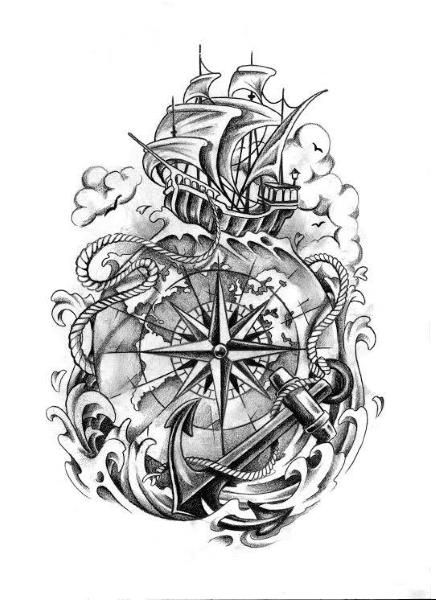 die besten 25 maritime tattoo ideen auf pinterest anker. Black Bedroom Furniture Sets. Home Design Ideas
