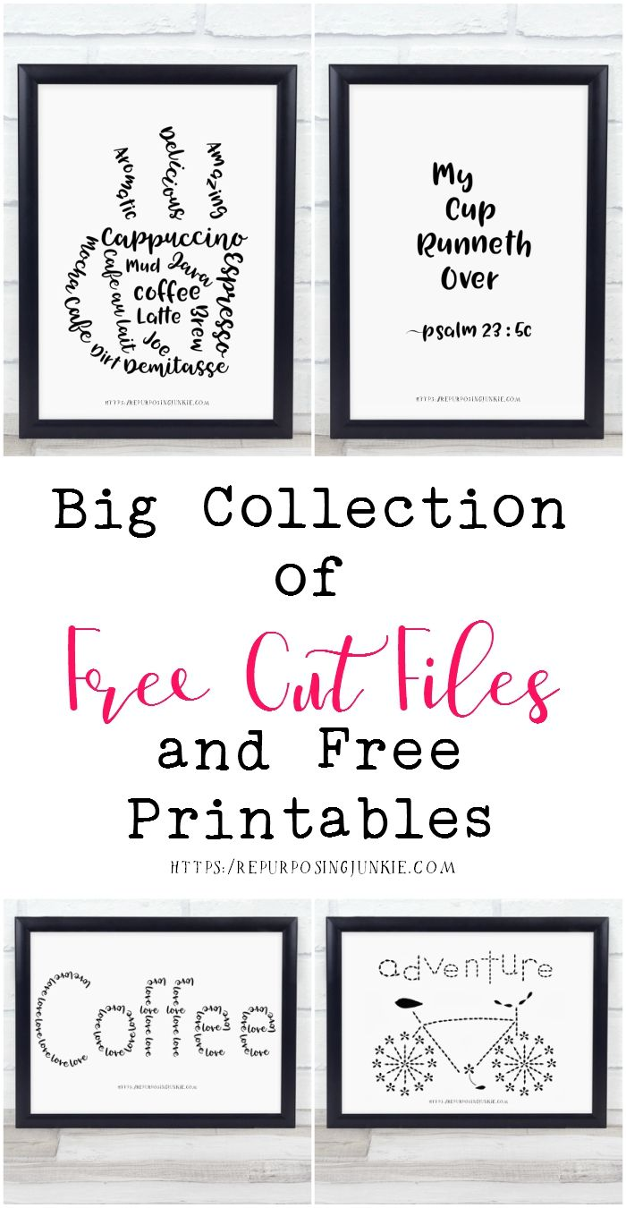 Big Collection of Free JPEG Cut Files and Free Printables