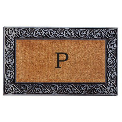 Home & More Prestige Silver Monogram Doormat - 18 x 30 in. - 10002SILVP, Durable