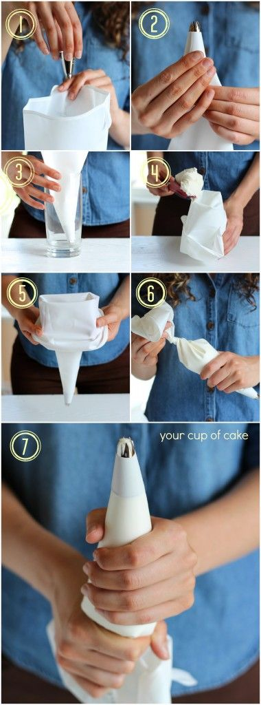 Cupcake decorating tutorial.  @Samantha Filsinger  I tried this with a 32oz mason jar and it works like a charm!