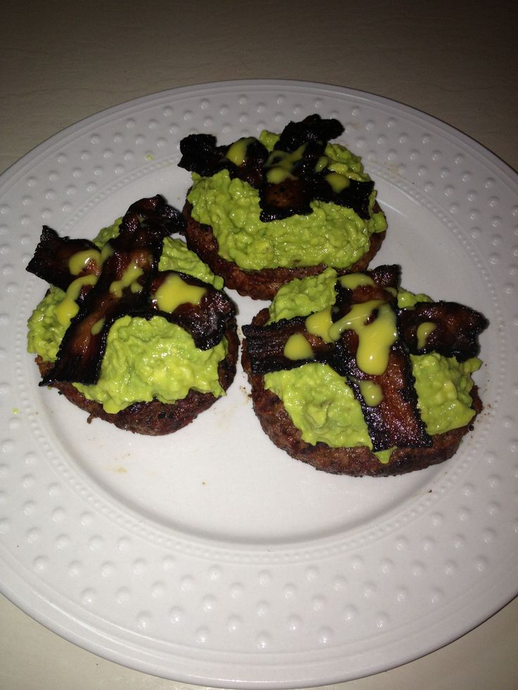 Bacon Avocado burgers - made by me!!!
