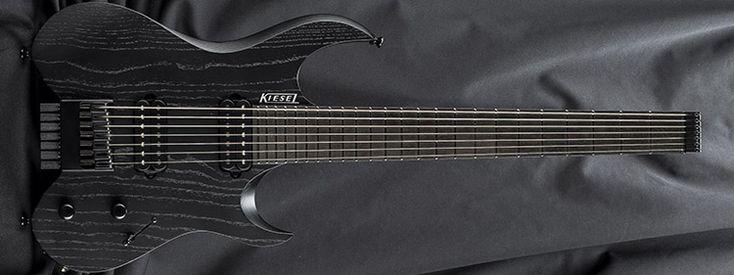 kiesel guitars v7 jet black b raw tone satin finish rtf 1 piece swamp ash top at1. Black Bedroom Furniture Sets. Home Design Ideas