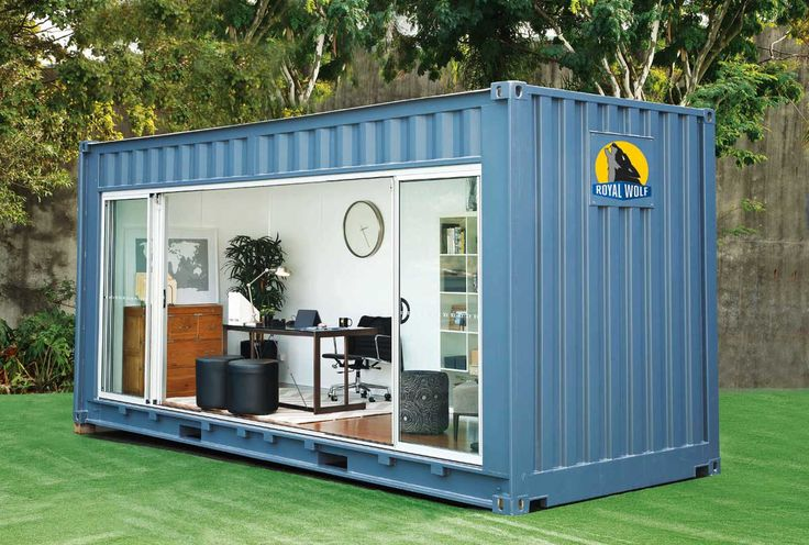 The Royal Wolf Outdoor Room is a 20 foot modular unit made from a shipping container. It comes equipped with power, lighting and air conditioning. Each unit features timber flooring, superior insulation and glass sliding doors.