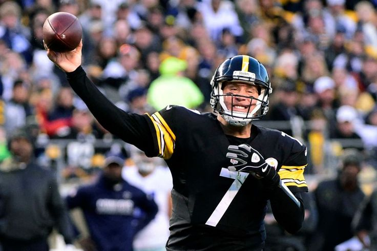 Cowboys vs. Steelers  - 35-30, Cowboys  -  November 13, 2016:    Pittsburgh Steelers quarterback Ben Roethlisberger (7) throws a touchdown pass to Eli Rogers in the end zone during the first half of an NFL football game against the Dallas Cowboys in Pittsburgh, Sunday, Nov. 13, 2016.
