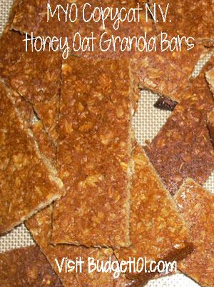 Budget101.com - - Crunchy honey Granola bars | Copycat Nature Valley Granola Bars | Back to School Recipes