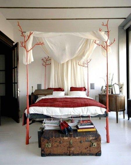 27 вариантов размещения кровати с балдахином в современной спальне фото 25