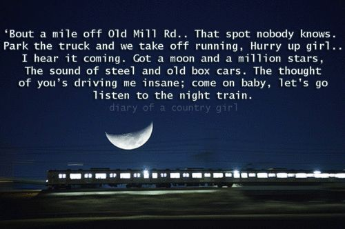 """Night Train""- Jason Aldean"