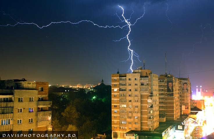Amazing lightning in Zalau