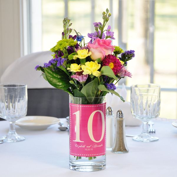 Unique table centerpieces wedding number