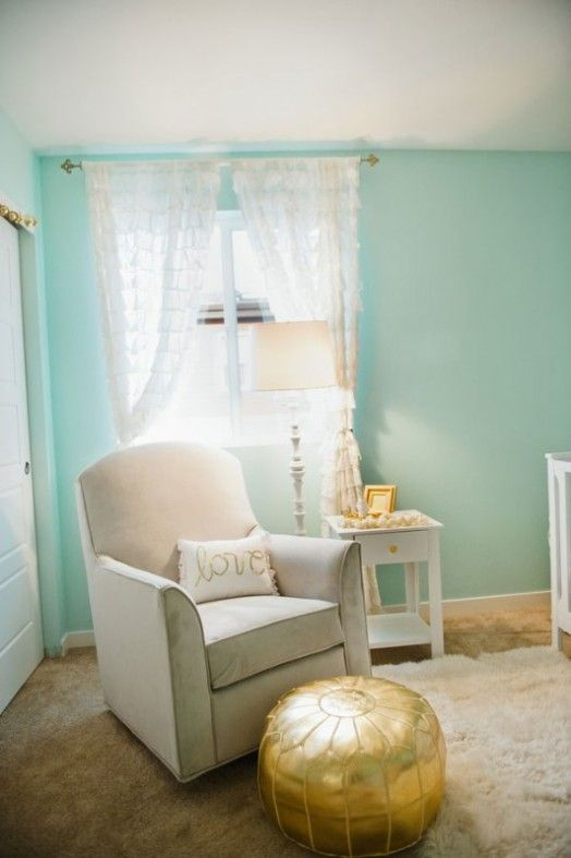 Cute Aqua And Gold Baby Girl's Nursery Inspiration | Kidsomania