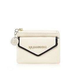 Cream contrast edge small coin purse