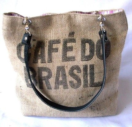 diy burlap handbags | Recycled burlap coffee bags are full of beans : Hippyshopper