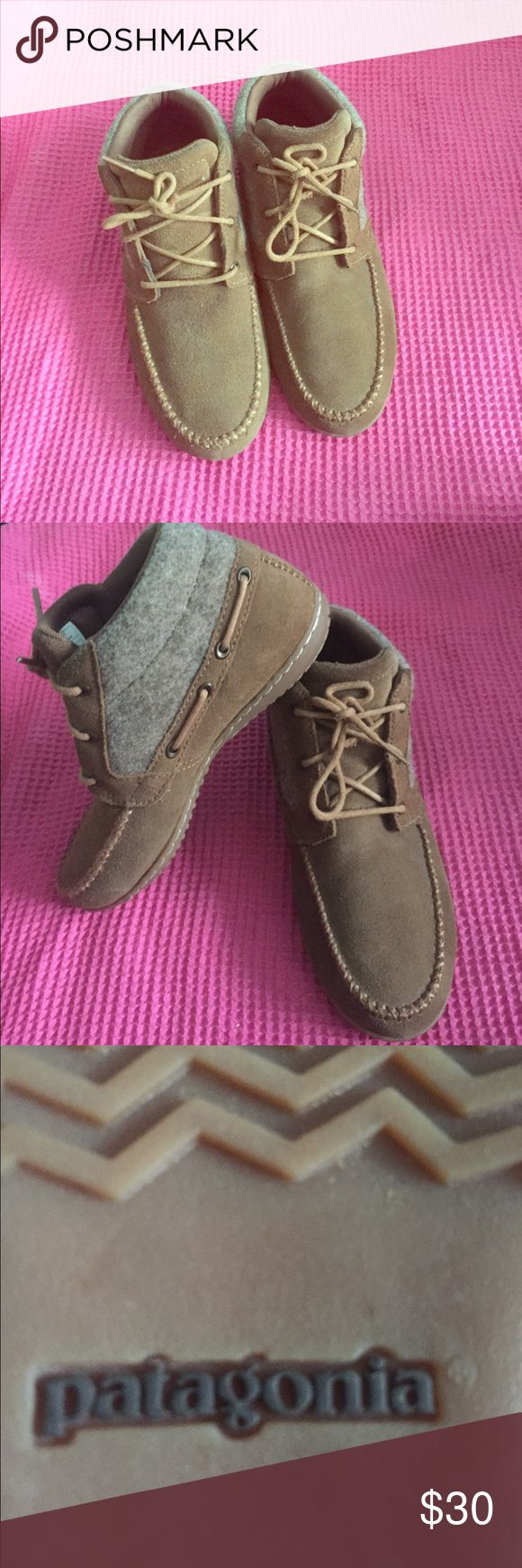 Patagonia chukka boots Gently used Patagonia booties! Brown with brown and grey siding. Suede booties. 6m Patagonia Shoes Ankle Boots & Booties