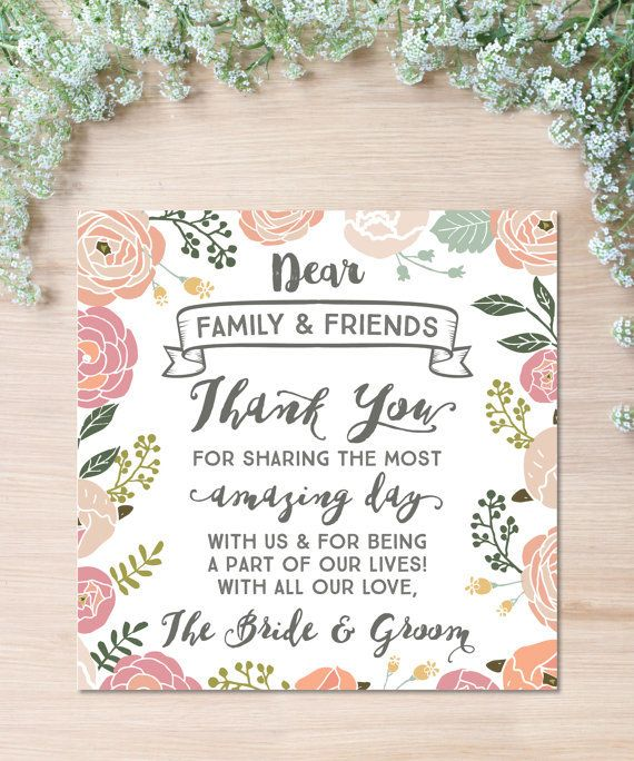 結婚式に来てくれたゲストへのメッセージカード❤︎花柄でかわいいカード❤︎