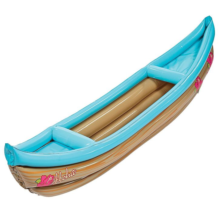 Inflatable Luau Canoe Cooler - OrientalTrading.com