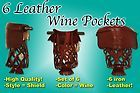 New Set of 6 Premium Leather Billiard Pool Table Pocket Wine Shield #6 iron - http://awesomeauctions.net/bar-games/new-set-of-6-premium-leather-billiard-pool-table-pocket-wine-shield-6-iron/