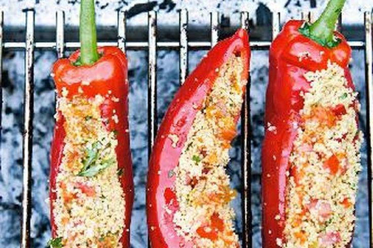 Das Rezept für Gefüllte Spitzpaprika mit allen nötigen Zutaten und der einfachsten Zubereitung - gesund kochen mit FIT FOR FUN