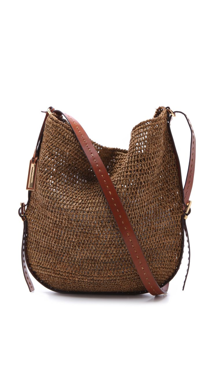 cheap michael kors outlet sale q3fz  Michael Kors Santorini Cross Body Bag in Brown  Lyst