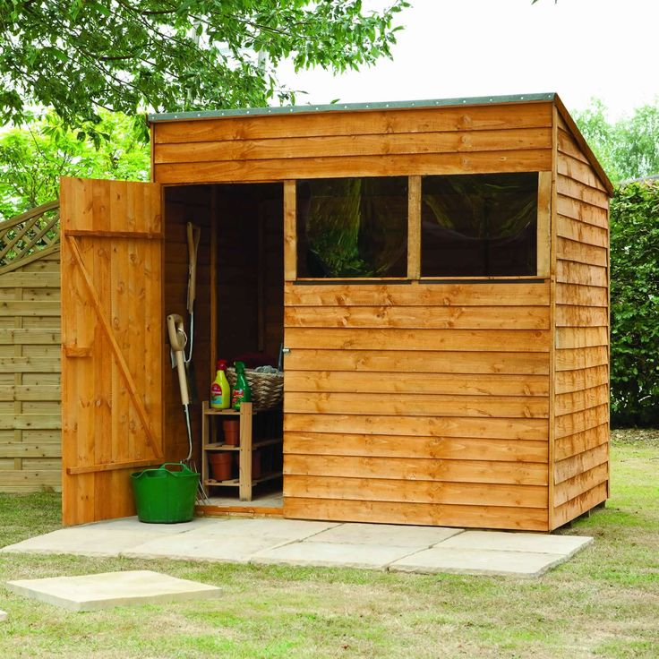 larchlap overlap 7ft x 5ft 209m x 161m wooden shedsforest gardenlog - Garden Sheds 7ft X 5ft